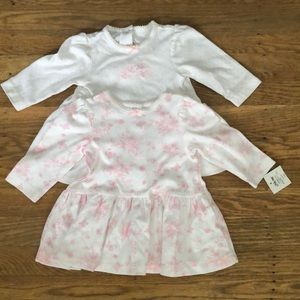 Little Me baby tops- size 6 months